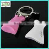 2014 high quality cute metal dress keyring baby shower gifts