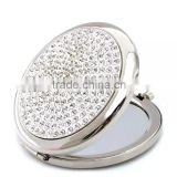 custom high quality with jewele bling decorative compact mirrors 1638