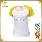 2016 athletic outdoor sports wholesale women baseball t shirt