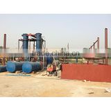 New waste tyre pyrolysis recycling plant rubber raw material machinery