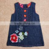 Denim Floral Baby Girl Dress