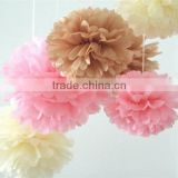 Tissue paper pom poms artificial flowers balls birthday Wedding decoration kids party supplies