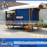 Most Favorable fiberglass snack mobile restaurant display cart food vehicle food trolley cart