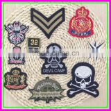 China Factory wholesale Iron-on Cheap DIY Textile Computer Embroideried Woven Skull Patch