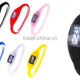 watches Silicone Ion Watch Jelly Digital Watch Anion Wrist Sport Watch 1ATM