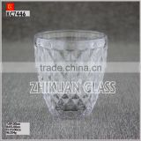 New Products In Market Glass cup/ hot sales design Hand press diamond drinking glass cup