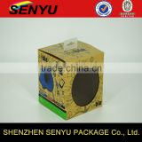 creative design & high-quality, wireless speaker brown kraft paper packaging box with clear PVC window