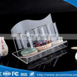 Transparent 3 rows acrylic jewelry display stand bracelet jewelry stand acrylic wrist display stand Wholesale