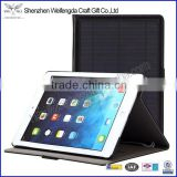 Factory hot sell solar charge leather tablet case for ipad air                                                                         Quality Choice