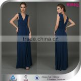 clothing manufacturers overseas bare breast party dress blue red deep v evening dress beaded kaftan high waisted wedding dresses