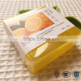 Whitening facial and body soap with orange essence vitamin C