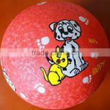 "cartoon dog 5"" rubber kickballs"
