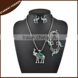 Fashionable Women's Necklace Earrings Bracelet elephant Jewelry Set/                                                                         Quality Choice