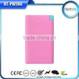 CE,ROHS Approved 4000mah Lithium Polymer battery good pack ultra thin credit card power bank