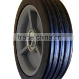 5 inch semi-pneumatic rubber wheels with bearing for utility cart, shipping container, trolly
