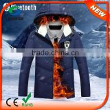 Smart battery operated heated jacket with 3 heating elements