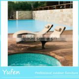 Waterproof rattan chaise lounge swimming pool chair