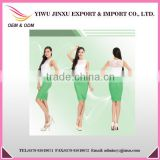 Transparent OEM ODM Alibaba Express Fitness Wear Wholesale Customized Logo Lace Ruffle Suit Women Working Dress