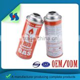 Quality Assured Natural Color Empty Straight Wall Camping Gas Cartridge Straight Aerosol Can Butane Can