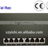 8CH Telephone USB digital voice Recorder auto call recorder phone with Caller ID (CE Approved)