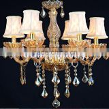 Brand new chrome baccarat glass chandelier