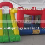 funny inflatable mini nylon bouncer with slide, cheap inflatable bouncer for home use SP-MB007