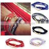 2016 Navy Fashion Fish Hook Charm Bracelet Wholesale                                                                         Quality Choice