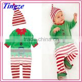 2015 Christmas baby layette with hat boutique cotton baby clothes wholesale price TR-CA13