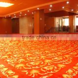Anti-dust red modern pattern customized wool carpets for lobby