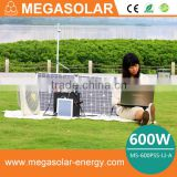 high quality portable 600w solar generator with solar panel and build in battery