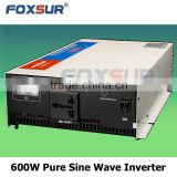 600W FOXSUR 24V dc to 230V ac UPS Pure Sine Wave Power Inverter Output Voltage mater with 3-stage Battery Charger