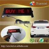 Wholesales 12/24/9-36V LED car message signal cigarette sign lighter power cord display board remote control                                                                         Quality Choice