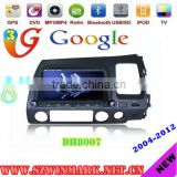 DH8007 digital car DVD player for HONDA Civic(right) with bluetooth gps navigation 3g pip rds tmc radio etc