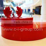 New Shopping Mall fibreglass furniture/Creative custom made shopping Centre product platform