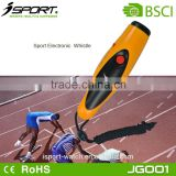 Loud Sound Convenient Big Plastic Elecronic Sports Whistle with Two Different Tones JG001