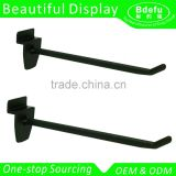 Small Black high quality metal hooks slatwall hanging display hooks                                                                                                         Supplier's Choice