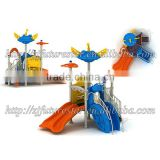 Lovely mini dream-sky style outdoor playground kindergarten plastic slide with 14 optinal sizes