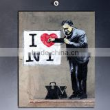 POP90 3D kids room banksy wall sticker decorative