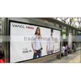 Full color bus shelter advertising posters screen printing