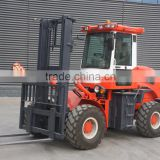 China top brand high quality rough terrain forklift SZM C3500 with weichai engine and terrain tyres