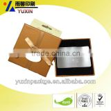hot sell! high quality gift card /shopping card/name card paper packing box with ribbon tie and hanger