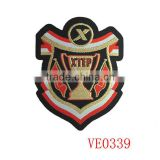 High quality personality embroided school uniform woven patches