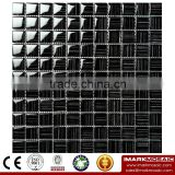 IMARK Black Color Hand Painting Crystal Glass Mosaic Tiles for Wall Backsplash Code IVG8-058