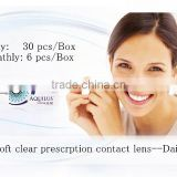 new prescription clear lenses 30 pcs/box daily medical contact lens