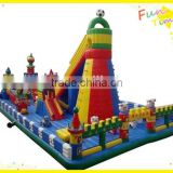 custom theme park large inflatable bouncer combo high mountain inflatable bouncer for kids