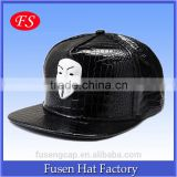 Custom Embroidered Leather Visor Snapback Starter Blank Snapback Hat Wholesale
