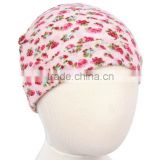 Fashionable Cotton floral Decorated Newborns Infant Baby Girl Babies Beanie Hat Winter Keep Warm Hat
