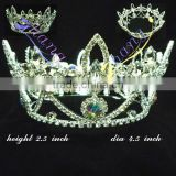 Newest Full round rhinestone pageant and bridal crown