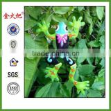 QUANZHOU Crafts Metal plant stake frog design outdoor garden decor for sale