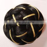 Hair chignons wholesale hair bun synthetic hair wig for black women